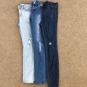 Girls skinny jeans bundle